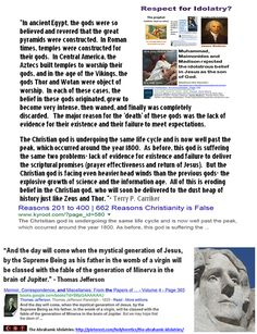 "Post Judeo-Christian: ""The major reason for the 'death' of these gods was the lack of evidence for their existence and their failure to meet expectations...The Christian god is facing even heavier head winds than the previous gods- the explosive growth of science and the information age. All of this is eroding belief in the Christian god, who will soon be delivered to the dust heap of history just like Zeus and Thor.""-Terry P. Carriker…"