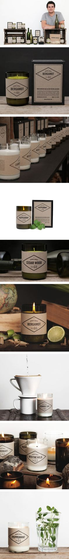 Get Inspired: Upwined Candles By Marco Hess via iamthelab.com