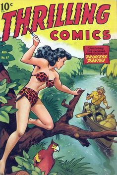 Thrilling Comics - Princess Pantha / Pulp comics vintage art