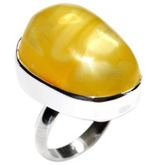14 4G Authentic Baltic Amber 925 Sterling Silver Ring Jewelry s 8 5 A0103 | eBay