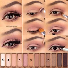 25 schönheit schwarz diy augenbraue eyeliner make-up wimperntusche rosa hübsch smokey eye Makeup Hacks, Eye Makeup Tips, Makeup Goals, Diy Makeup, Makeup Inspo, Makeup Inspiration, Makeup Ideas, Makeup Tutorials, Eyeshadow Tutorials