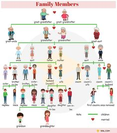 Members of the Family Vocabulary in English – ESL Buzz Learning English For Kids, English Lessons For Kids, Kids English, English Language Learning, English Study, Teaching English, Learning Italian, French Lessons, Education English
