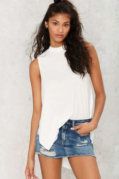 Slit or Miss Cutout Top - White | Shop Clothes at Nasty Gal!