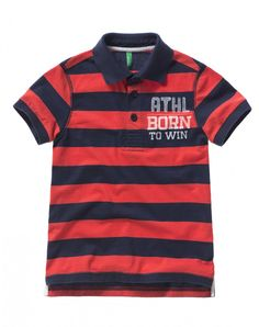 """cotton striped polo, short sleeves and semi-glossy buttons with Benetton logo. Maxi watercolor vintage look print, ribbed knit at collar and sleeve bottoms and slits at the bottom<br>This garment features a """"Dress Safely"""" tag: it has been made withou Benetton, Vintage Looks, Boy Outfits, Polo Ralph Lauren, Short Sleeves, Spring Summer, Boys, Mens Tops, Cotton"""