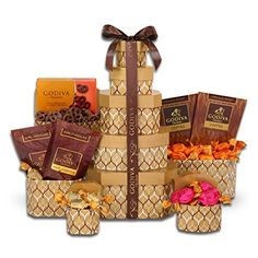 Alder Creek Gifts Ghirardelli and Warmth Gift Tower