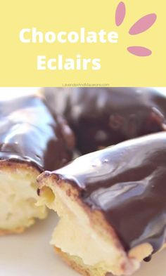 This is a simple and delicious Chocolate Eclair Recipe with step-by-step instructions and video included. The process takes a bit of time but you'll be rewarded with the creamiest homemade eclairs.