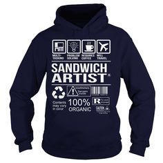 Awesome Tee For Sandwich Artist T-Shirts, Hoodies. BUY IT NOW ==► https://www.sunfrog.com/LifeStyle/Awesome-Tee-For-Sandwich-Artist-Navy-Blue-Hoodie.html?id=41382