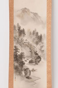 Check out Japanese hanging scroll Landscape painting on silk Antique wall art hs0646  http://www.ebay.com/itm/Japanese-hanging-scroll-Landscape-painting-on-silk-Antique-wall-art-hs0646-/112020110766?roken=cUgayN&soutkn=PTlbaK