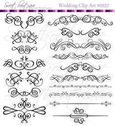 BLACK 17 Decorative Frames Clipart  Digital Clip by MSweetboutique, $5.99