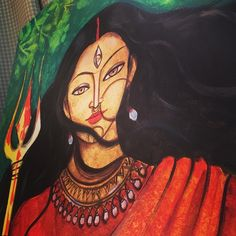 I celebrated my Dussehra like this . hope you had a marvelous time with family , friends , strangers and self . Durga Painting, Buddha Painting, Durga Maa Paintings, Indian Art Paintings, Unique Paintings, Abstract Paintings, Oil Paintings, Abstract Art, Madhubani Art