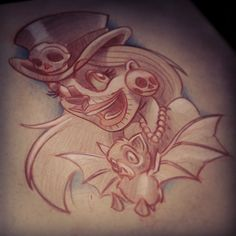 For an upcoming appointment #newschool #newschooltattoo #newskool #newskooltattoo #worldofnewschool #newschooldrawing #newschoolart #voodoo #voodoowoman #bat #battattoo #draw #drawing #sketch #doodle...