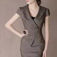 I like the crossover style, color and that it is a short sleeved suit. i could use a short sleeved suit Business Attire, Business Fashion, Tweed Shorts, Work Fashion, Fashion Design, Work Wardrobe, Office Outfits, Work Attire, Suits For Women
