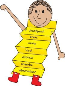Adjectives about myself - so cute and could be used as a template for adjectives about other people or story characters.