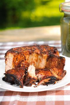Żeberka grillowane w sosie barbeque Ketchup, Pork, Turkey, Meat, Kale Stir Fry, Turkey Country, Pork Chops
