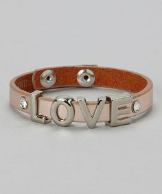 Take a look at this Rose & Silver 'Love' Bracelet by I Love Accessories on #zulily today!