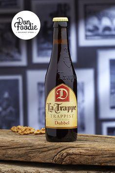 Cerveza La Trappe Dubbel  #latrappe #trappe #trappist #trappistenbier #dubbel #bier #beer #SFB #swinkelsfamilybrewers #foodpairing #dubbelbier Tostadas, Beer Bottle, Drinks, Gourmet, Ale, Runway, Beer, Drinking, Beverages
