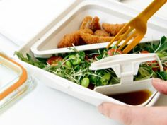 Adult Lunch Box - Divided Lunch Container - Salad Lunch Container by Black + Blum $23. http://www.thegrommet.com/black-blum-box-appetit-and-lunch-pot