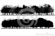 Illustration about Image of trees in section. Illustration of branch, gardening, nature - 69457091
