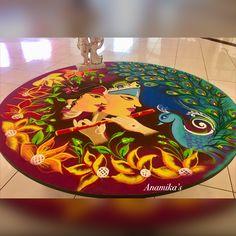 Easy Rangoli Designs Diwali, Rangoli Designs Latest, Simple Rangoli Designs Images, Rangoli Designs Flower, Free Hand Rangoli Design, Rangoli Border Designs, Small Rangoli Design, Rangoli Patterns, Colorful Rangoli Designs