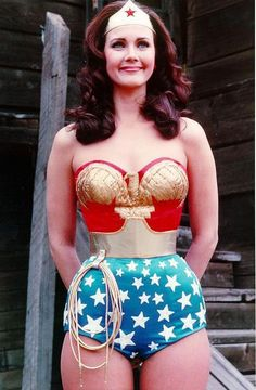Wonder Woman God I so wanted to be her! Look at her fantastic figure. Can you imagine the stick figure that would play her today?