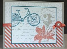 Tangerine Striped Postage Due by zipperc98 - Cards and Paper Crafts at Splitcoaststampers