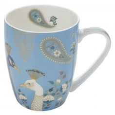 Tableware to make you prouder than a peacock with the Cashmere Sari Mug from Maxwell