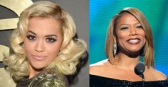 Rita Ora and Queen Latifa looking fab at the 2014 Grammy Awards.