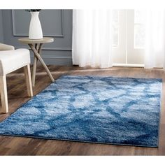 Shop for Safavieh Retro Modern Abstract Blue/ Dark Blue Rug (6' x 9'). Get free shipping at Overstock.com - Your Online Home Decor Outlet Store! Get 5% in rewards with Club O!
