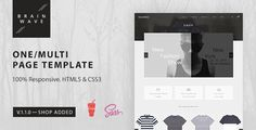 Download Free              Brainwave — Multipurpose One/Multi Page Template            #               agency #ajax #blog #business #clear #creative #gulp #modern #one page #shop