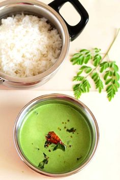 Nutrients loaded drumstick leaves tambli - A summer specific rice side dish that comforts and cools your body heat with all the goodness of drumstick leaves.
