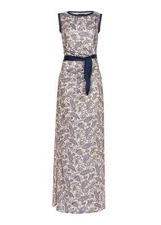 MANGO - Metallic gown | paisley