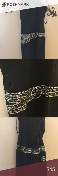 Gorgeous Black Cocktail Dress size 6 Gorgeous cocktail dress. Midi length. Fitted . Beautiful Bling Design. By Italian Designer Giovanni.  Non smoking home. Carlos Giavvani  Dresses Midi