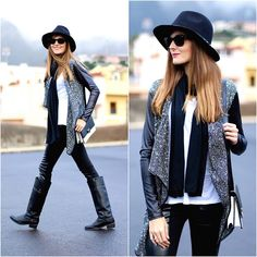 Zara Hat, Lusstra Cardigan, Nowistyle Boots
