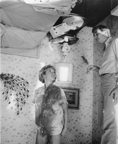 pickledelephant:    Amanda Wyss and Wes Craven on the set of A Nightmare On Elm Street (1984)