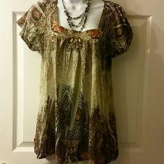 Blouse Printed  blouse Apt Dresses