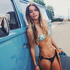 """4,113 Likes, 18 Comments - ★Vw Bugs & Babes★ (@vw_bugs_n_babes) on Instagram: """"Our favorite SkaterChick, @louisemaurisset. """""""