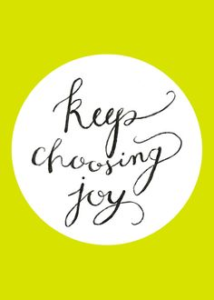 Keep Choosing Joy  Chartreuse Hand Painted by SwoonPaperMarket