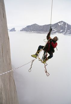 """Gordon, from Bozeman in Montana, USA, added: """"Although rock climbing like this seems insane, dozens of similar trips take place in remote locations every year"""".  Picture: GORDON WILTSIE / NATIONAL GEOGRAPHIC STOCK / CATERS NEWS"""