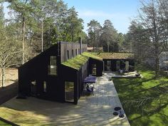 luv this house Long House, Shed Homes, Modern Barn, Black House, House In The Woods, Architecture Details, Exterior Design, Future House, Building A House