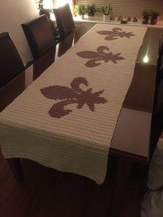 Crochet tablecloth table runner  Haken Tafelloper tafelkleed