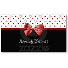 73 best girly business cards and cases images on pinterest girly hearts and polka dots red ribbon business card colourmoves