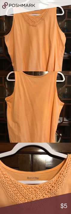 🌸White Stag Coral Tank Top🌸 Good condition and worn a few time and laundered as per instructions.  There are no rips, stains or pilings.  If you have any questions please ask before purchase.  Thank you for browsing my closet. White Stag Tops Tank Tops