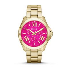 AM4539P - Cecile Multifunction Stainless Steel Watch – Gold-Tone