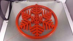 #snowflake #3dprint #ultimaker www.3drucken.ch