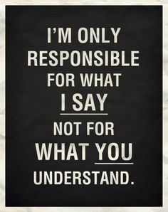 i`m only responsible