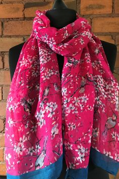 Want a pop of colour? Love a floral design? These lightweight, slightly thinner scarves, are just for you. Dress them casual with denim or add them to your office outfit to make a stylish statement. Color Pop, Colour, Pink Scarves, Floral Scarf, Office Outfits, Alexander Mcqueen Scarf, Raspberry, Floral Design, Feminine