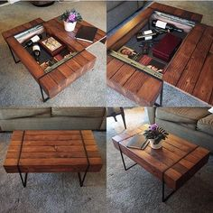 A great coffee table by @22ndsupplyco. . . #woodworkforall #leather #woodwork #woodworking #wood #woodturning #woodporn #glass #industrialdesign #kitchentable #rusticdecor #rustic #crafting #table #likesforlikes #like4like #ryobination #rigidnation #love #craftsman #handmade #custommade #leather #bench #coffeetable #leatherwork #interiordesign
