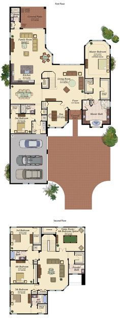 PRESTON/755 Floor Plan (Large View)