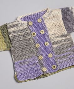 Classic Elite Yarns--Susan Mills--Double-Breasted Baby Cardigan (6 - 24 months)