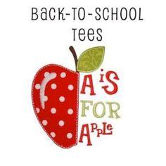 Girl Back-to-School Applique T-shirts - Toddler & Big Girls